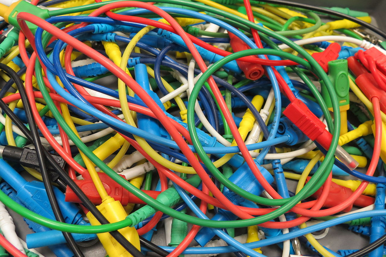 Tangled cables
