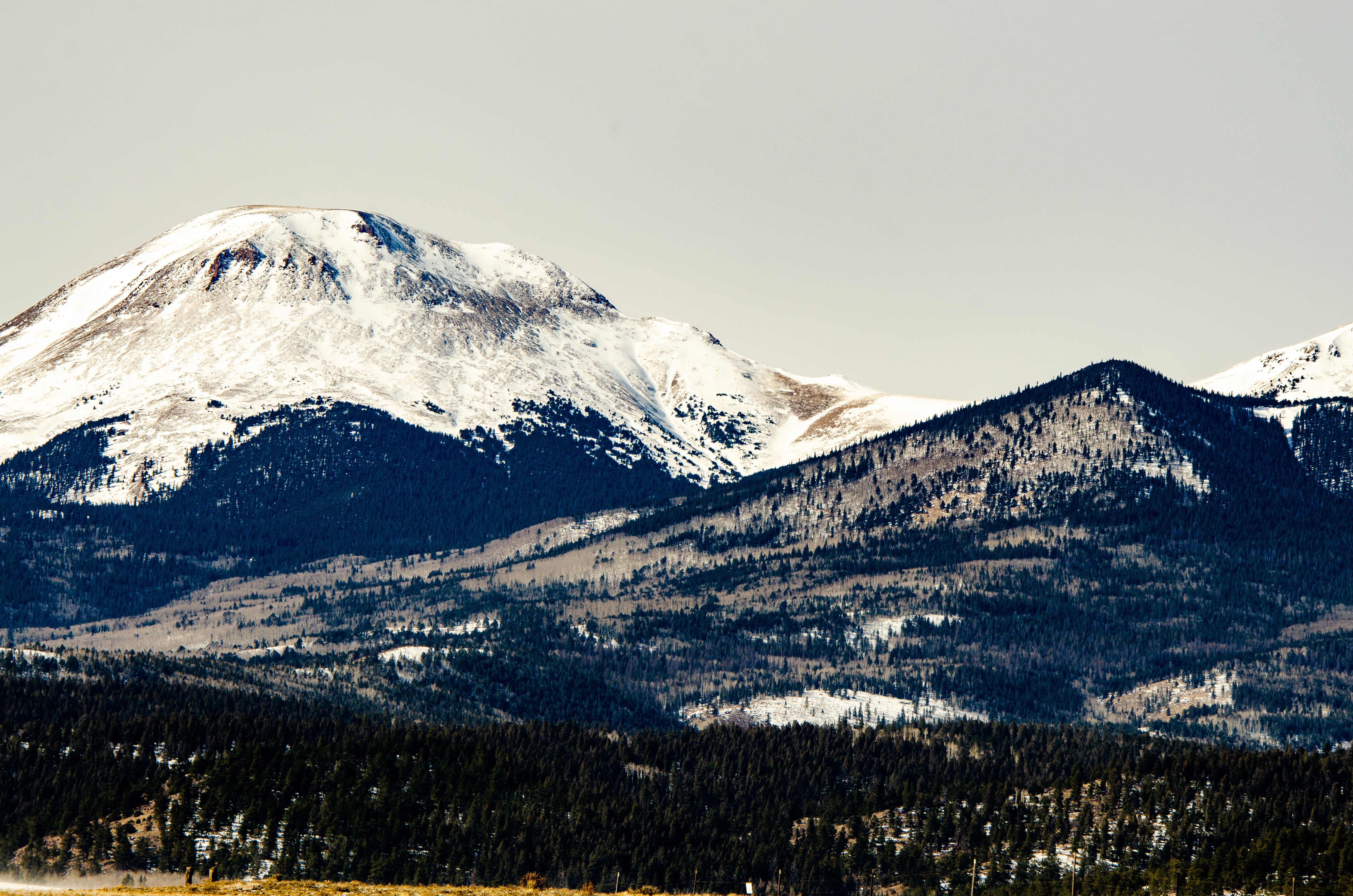 Snow capped mountains in Colorado