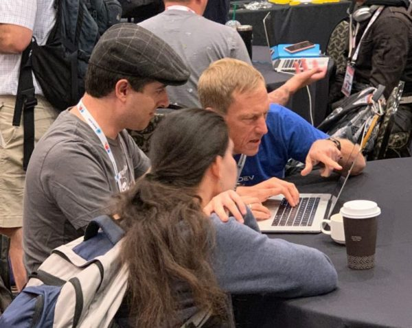 Randy Fay works with DDEV-Local users at BADCamp