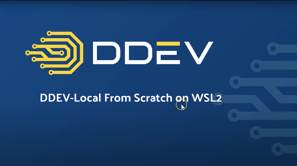 DDEV-Live from Scratch on WSL2