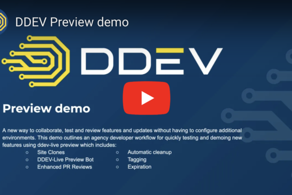 DDEV Preview Feature Demo video title slide